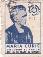 MARIA CURIE, DESCUBRIO EL RADIUM. LUCHA CONTRA EL CANCER. VIGNETE OBLITERE 1922 HEALTH - BLEUP - Vignetten (Erinnophilie)