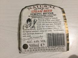 Ancienne Étiquette 1.1 BIÈRE ÉTRANGÈRE NATURAL NEWQUAY STEAM BEER STRONG BITTER - Bière