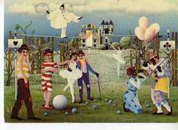 BLASNAVSKI Maskenball, Bal Masqué, Arlequin Equilibriste, Clowns, Danseuse En Tutu - Autres Illustrateurs