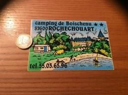 AUTOCOLLANT, Sticker * «camping De Boischenu - ROCHECHOUART (87)» (caravane, Château) - Autocollants