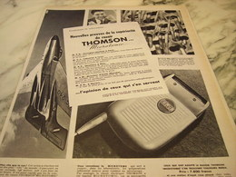 ANCIENNE PUBLICITE NOUVELLES PREUVES  RASOIR MICROTOMIC THOMSON   1955 - Advertising