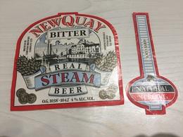 Ancienne Étiquette 1.1 BIÈRE ÉTRANGÈRE NATURAL NEWQUAY STEAM BEER STRONG BITTER - Beer