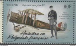 FRENCH POLYNESIA , 2017, MNH, AVIATION, WWI, WORLD WAR I,  PLANES,  1v - Airplanes