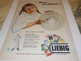 ANCIENNE PUBLICITE SOUPE LIEBIG  CATHERINE 1955 - Publicités