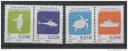 TAAF, FRENCH ANTARCTIC  ,2016, MNH, TURTLES, HELICOPTERS, BOATS, SHIPS, PENGUINS, 4v - Turtles