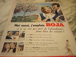 ANCIENNE PUBLICITE MOI AUSSI J EMPLOIS   ROJA  1955 - Publicités
