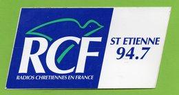 RADIO RCF ST ETIENNE 94.7 FM * AUTOCOLLANT A1669 * - Autocollants