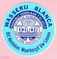Sticker - Wasserij BLANCA - Heieinde 12 Vosselaar - KWALIWAS - Autocollants