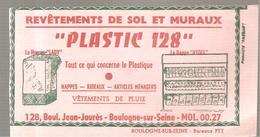Buvard PLASTIC 128 Revêtements De Sol Et Muraux 128, Bld Jean Jaurès à Boulogne Sur Seine - Peintures