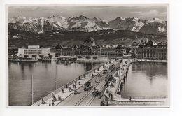 LUZERN Seebrücke Bahnhof Auto Tram - LU Lucerne
