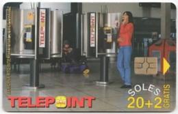 PERU A-114 Chip Telepoint - Communication, Phone Booth - Used - Peru