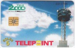 PERU A-116 Chip Telepoint - Communication, Radio Tower - Used - Peru