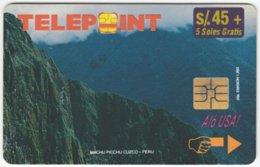 PERU A-130 Chip Telepoint - Landscape, Mountains - Used - Peru