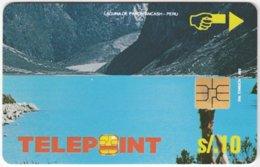 PERU A-131 Chip Telepoint - Landscape, Lake - Used - Peru