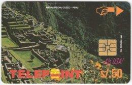 PERU A-132 Chip Telepoint - Landmark, Machu Picchu - Used - Peru