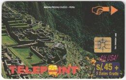 PERU A-133 Chip Telepoint - Landmark, Machu Picchu - Used - Peru