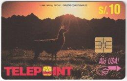 PERU A-135 Chip Telepoint - Animal, Lama / Calendar 1995 - Used - Peru