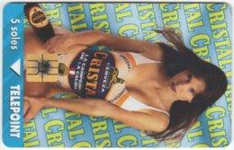 PERU A-138 Chip Telepoint - People, Woman / Calendar 1997 - Used - Peru