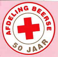 Sticker - Rode Kruis - Afdeling Beerse - 50 Jaar - Autocollants