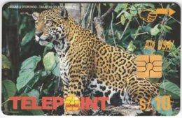 PERU A-144 Chip Telepoint - Animal, Cat, Jaguar - Used - Peru