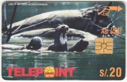 PERU A-150 Chip Telepoint - Animal, Otter - Used - Peru