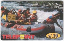PERU A-151 Chip Telepoint - Leisure, Rafting - Used - Peru