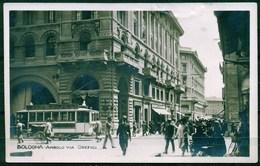 CARTOLINA - BOLOGNA - CV1554 BOLOGNA  Angolo Via Orefici Con Tram, FP, Viaggiata 1923, Buone Condizioni - Bologna