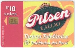 PERU A-155 Chip Telefonica - Advertising, Drink, Beer - Used - Peru