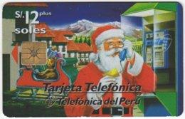 PERU A-156 Chip Telefonica - Occasion, Christmas - Used - Peru