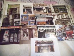 LOT DE 13 CARTES (vierges) ..FACADES DE MAGASINS ...BOUTIQUES ...COMMERCES - Postcards