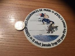 AUTOCOLLANT, Sticker « UAP» (Union Des Assurances De Paris) Illustration SERRE, Patins à Roulettes - Autocollants