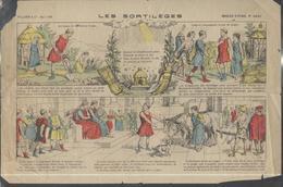Affichette Publicitaire Lessive Aux Images - Les Sortilèges - Imagerie Pellerin Epinal N°4090 - Publicités