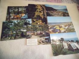 LOT DE 7 CARTES  ..VACANCES ...EN CAMPING - Postcards