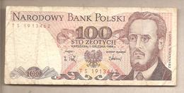 Polonia - Banconota Circolata Da 100 Zloty P-143e.2 - 1988 - Polonia