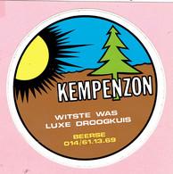 Sticker - KEMPENZON - Witste Was - Luxe Droogkuis - Beerse - Autocollants