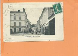CPA - MONTENDRE - Rue Principale - Hotel Du Boeuf Couronne - Montendre