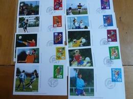 12 Enveloppes FDC Coupe Du Monde Foot  Du 1.06.1996 - FDC