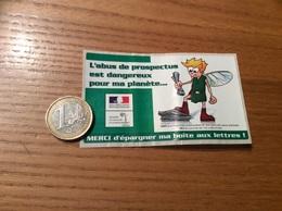 AUTOCOLLANT, Sticker «L'abus De Prospectus Est Dangereux Pour Ma Planète - MINISTÈRE DE L'ECOLOGIE ET DE L'ENVIRON.» - Autocollants