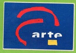 ARTE * TV TELEVISION * AUTOCOLLANT A1674 * - Autocollants