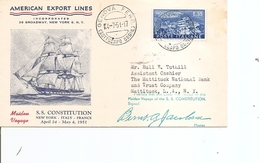 Bateaux - Voiliers - SS Constitution ( Document Commémoratif D'Italie De 1951 à Voir) - Ships