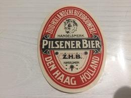 Ancienne Étiquette 1.1 BIÈRE ÉTRANGÈRE ZUID HOLLANDSCHE BIER BROUWERIJ HANDELSMERK PILSENER BIER DEN HAAG HOLLAND - Bière