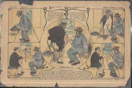 Image D' Epinal Pellerin - En Wagon N°4138 - Dos Vierge - Vieux Papiers