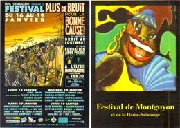 "2 Cartes Postales ""Cart'Com"" - Série Spectacle, Concert, Film (festivals) - Advertising"