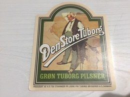 Ancienne Étiquette 1.1 BIÈRE ÉTRANGÈRE DEN STORE TUBORG GRON PILSNER BRYGGERIER DANMARK - Beer