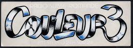 RADIO SUISSE ROMANDE COULEUR 3 FM * AUTOCOLLANT A1676 * - Autocollants