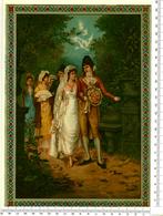 CHROMO LITHO..GRAND FORMAT...H  26 Cm....MARIAGE A L'EPOQUE EMPIRE - Vieux Papiers