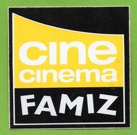 CINE CINEMA FAMIZ * TV TELEVISION * AUTOCOLLANT A1677 * - Autocollants