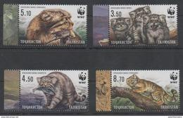 TAJIKISTAN, 2017, MNH, WWF, MANUL, FELINES, BIRDS, FISH,4v - Unused Stamps