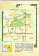 Cartes Géographiques - La Bretagne - Les Circuits Généraux - La Foret De Paimpont - Cpm - Vierge - - Maps