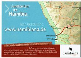 (033..325) SWA, Nambia, Landkarte - Namibia